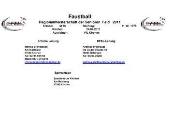 Faustball Regionalmeisterschaft der Senioren Feld 2011 - VfL Kirchen