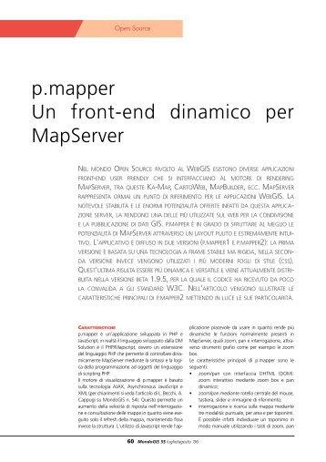 p.mapper Un front-end dinamico per MapServer - Faunalia