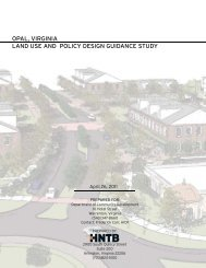 HNTB Opal Land Use and Policy Design ... - Fauquier County