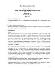 Opal Steering Committee - Fauquier County
