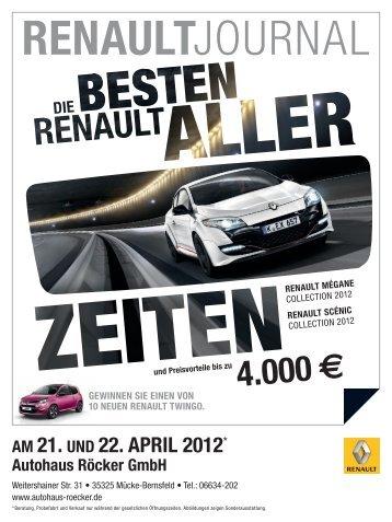 AM 21. UND 22. APRIL 2012* - Autohaus Röcker