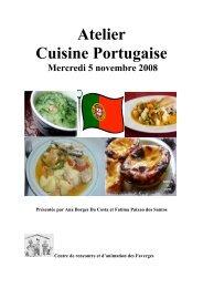 Atelier Cuisine Portugaise - Centre de Rencontre et d'Animation des ...