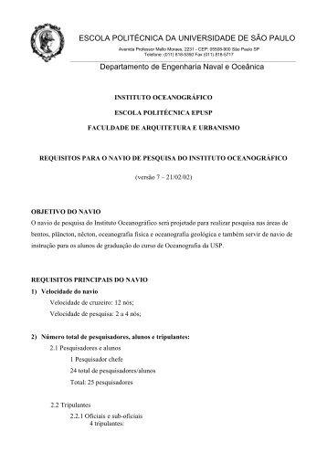 Requisitos do Armador - FAU - USP