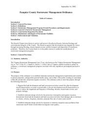 Fauquier County Stormwater Management Ordinance