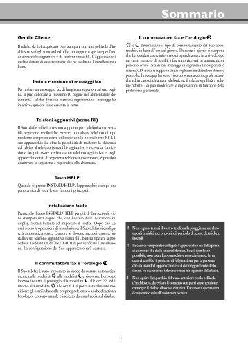 Manual Magic / Magic Vox / Magic Memo italiano - Fax-Anleitung.de