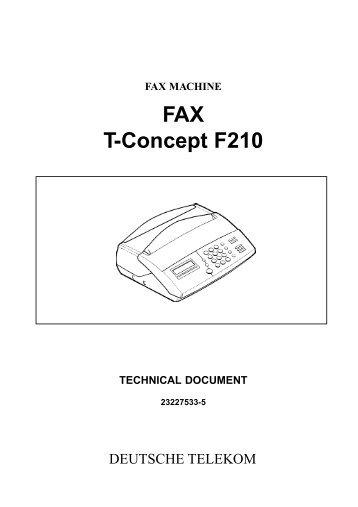 FAX T-Concept F210 - Fax-Anleitung.de