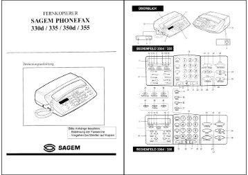 Anleitung Phonefax 330d/335d/350d/355 deutsch - Fax-Anleitung.de