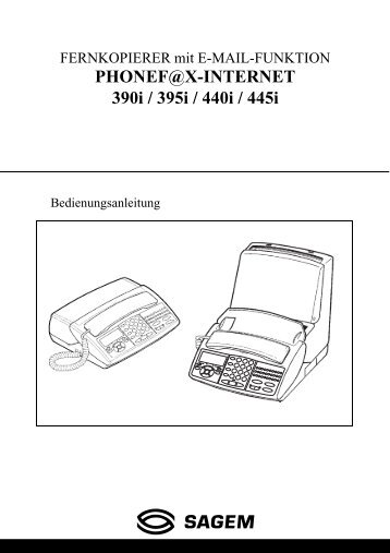 PHONEF@X-INTERNET 390i / 395i / 440i / 445i - Fax-Anleitung.de