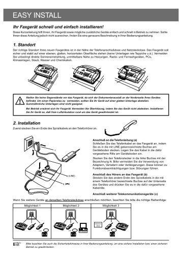 W0-Ph-sw EasyInstall D.p65 - Fax-Anleitung.de