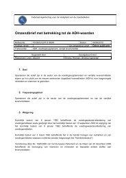 Omzendbrief met betrekking tot de ADH-waarden - Favv