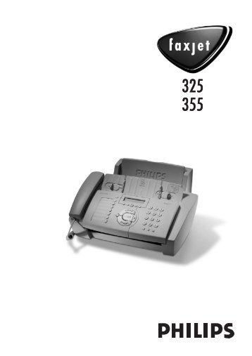 philips faxjet 325 - Fax-Anleitung.de