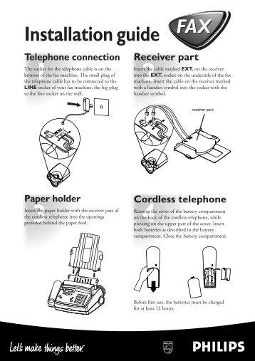 Philips i-jet kala GB Installationshilfe - Fax-Anleitung.de