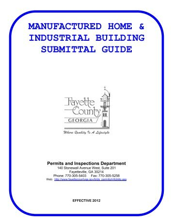 Manufactured & Industrial Building Submittal Guide - Fayette County ...