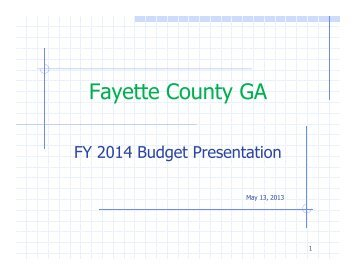 Meeting Package - Fayette County Government