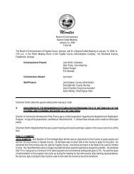Minutes - Fayette County Government