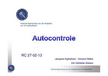 Autocontrole - Favv