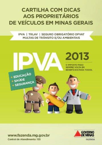 Cartilha IPVA - Secretaria de Estado de Fazenda de Minas Gerais