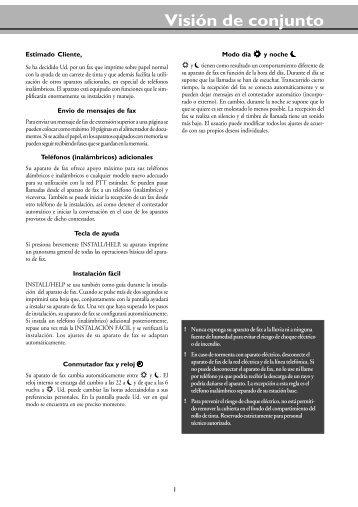 Philips Magic / Magic Vox / Magic Memo Manual - Fax-Anleitung.de