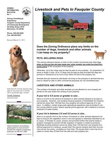 Livestock and Pets In Fauquier County