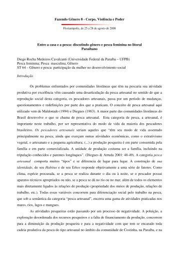 Fazendo Gênero 8 - Corpo, Violência e Poder Entre a casa e a ...