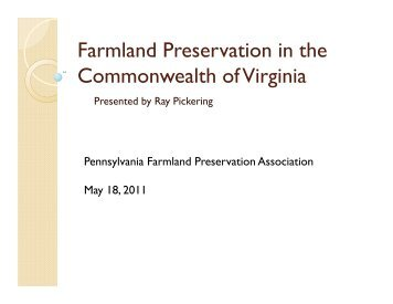 Presentation to Pennsylvania Farm - land ... - Fauquier County