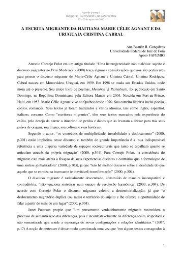 Ana Beatriz Rodrigues Gonçalves - Fazendo Gênero