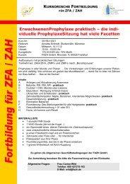 ErwachsenenProphylaxe praktisch - Fortbildungsakademie ...