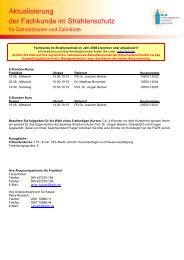 Aktualisierung der Fachkunde im Strahlenschutz