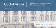 """CEO-Forum """" Innovation als Wachstumsfaktor für die Volkswirtschaft ..."""