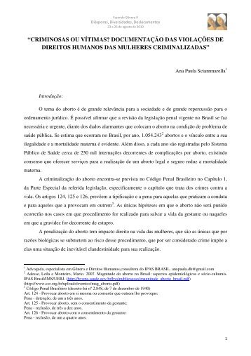 Ana Paula de Oliveira Sciammarella - Fazendo Gênero 10