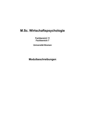 M.Sc. Wirtschaftspsychologie - Fachbereich 11 Human-und ...