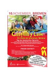 Tag der spanischen Sprache FREIER EINTRITT - Universität Bremen
