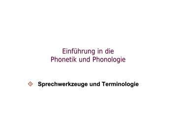Phonetik und Phonologie 3