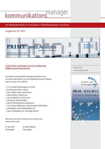 Ausgabe Nr. 18 / 2012 - FAZ-Institut