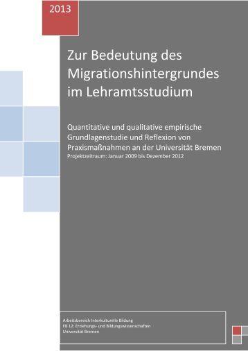onlinepublikation fachbereich 12 universitt bremen - Uni Bremen Online Bewerbung