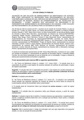 Ata - Secretaria de Estado de Fazenda de Minas Gerais - Governo ...