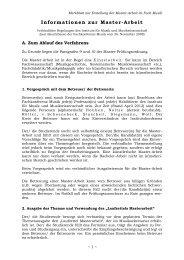 Informationen zur Masterarbeit - Fakultät Kunst- und ...