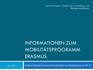 Präsentation - Fachbereich 12 - Universität Bremen