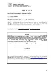 Edital - Secretaria de Estado de Fazenda de Minas Gerais