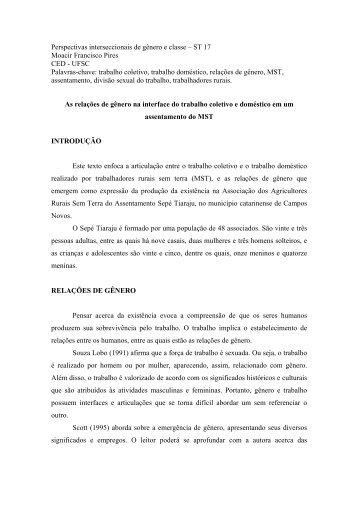 trabalho coletivo - Fazendo Gênero - Universidade Federal de ...