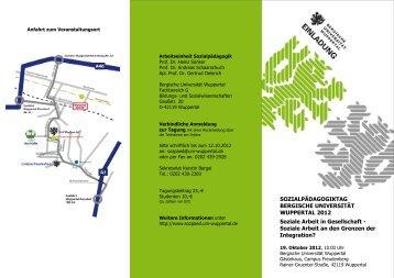 Sozialpädagogiktag 2012 - BERGISCHE UNIVERSITÄT WUPPERTAL