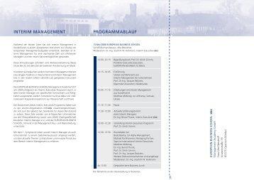 INTERIM MANAGEMENT PROGRAMMABLAUF - FaZiT Interim GmbH