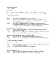 Fachbereich Mathematik und Naturwissenschaften - Hochschule ...
