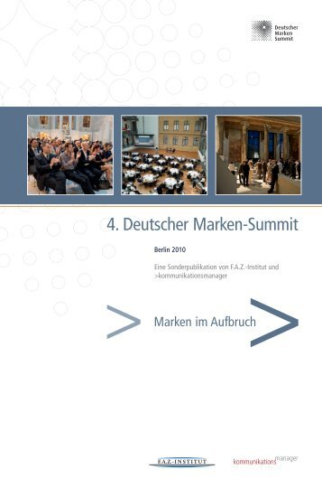 4. Deutscher Marken-Summit - FAZ-Institut