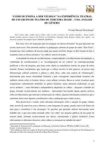 """""""COMO SE ENSINA A SER VELHO/A"""" NA ... - Fazendo Gênero"""