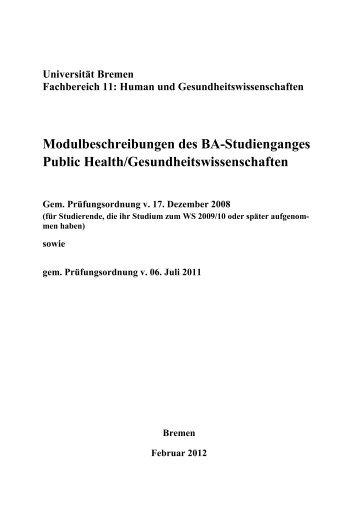 Modulbeschreibungen (application/pdf 366.6 KB) - Fachbereich 11 ...