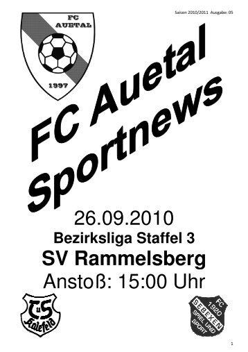 Stadionzeitung vom 26.09.10 - FC Auetal
