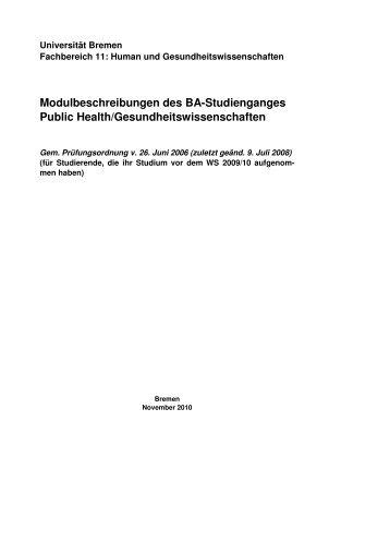 Modulbeschreibungen Alte PO - Fachbereich 11 Human-und ...