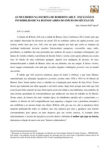 as mulheres na escrita de roberto arlt - Fazendo Gênero - UFSC