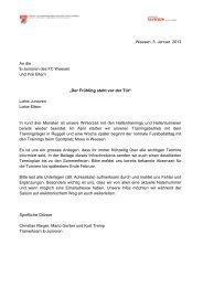 Infoschreiben E-Junioren Januar 2013 - FC Weesen